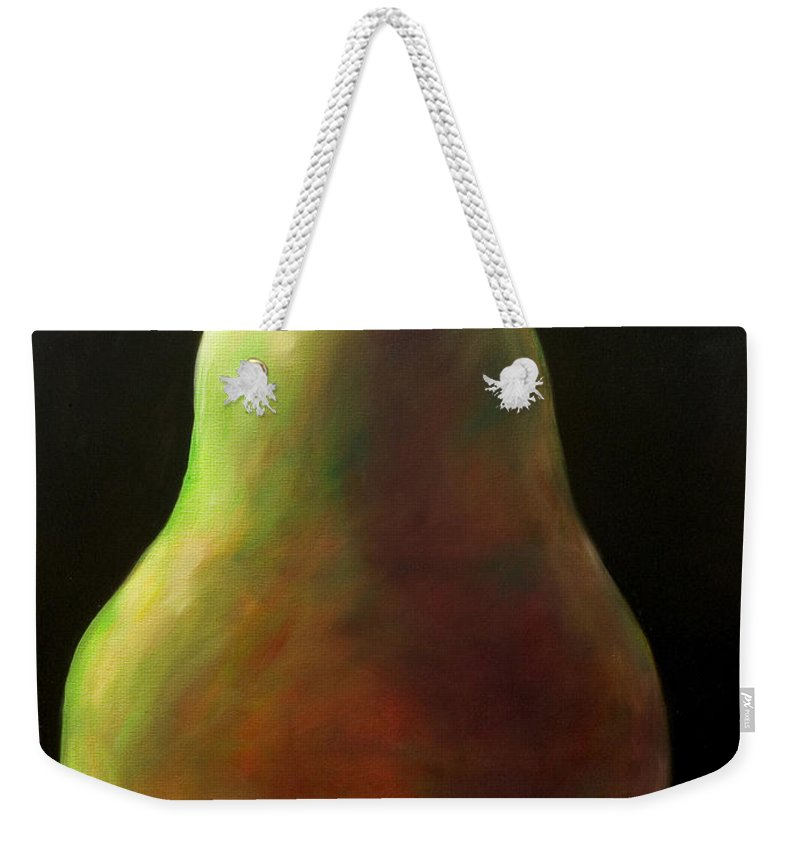 Pear Weekender Tote Bag featuring the painting Jan by Shannon Grissom