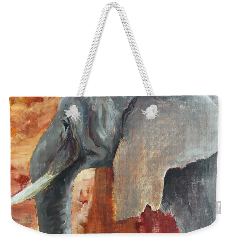 Animal Weekender Tote Bag featuring the painting Jana by Todd A Blanchard