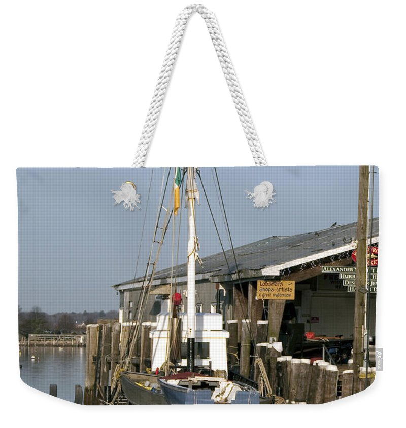 Boat Weekender Tote Bag featuring the photograph Janet by Steven Natanson