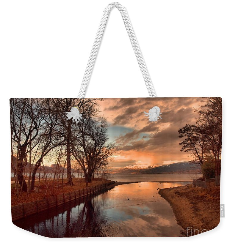 Sunset Weekender Tote Bag featuring the photograph January 15 2010 by Tara Turner
