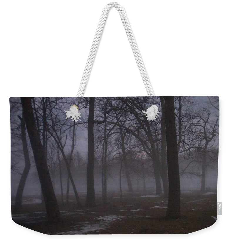 January Weekender Tote Bag featuring the photograph January Fog 2 by Anita Burgermeister