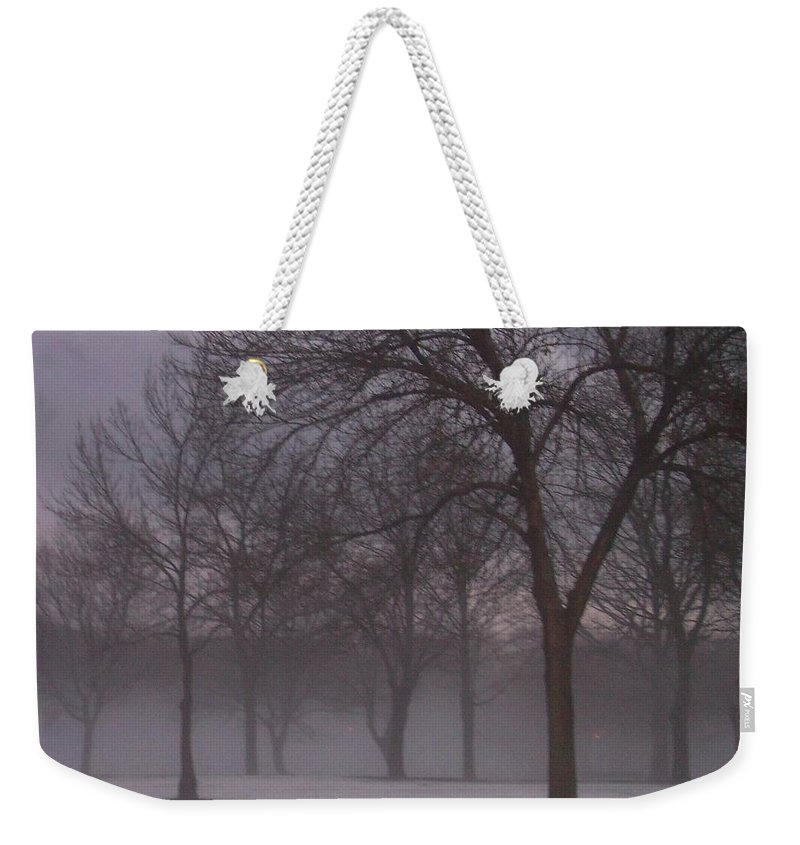 January Weekender Tote Bag featuring the photograph January Fog 4 by Anita Burgermeister