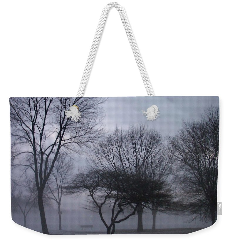 January Weekender Tote Bag featuring the photograph January Fog 6 by Anita Burgermeister