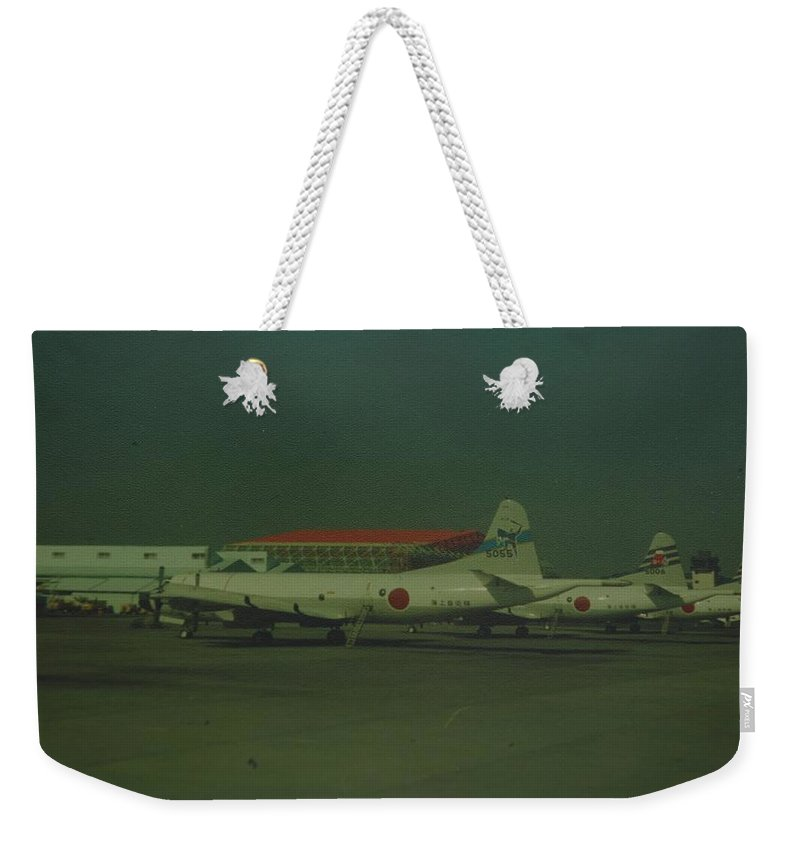 Airplane Weekender Tote Bag featuring the photograph Japanese Airforce by Rob Hans