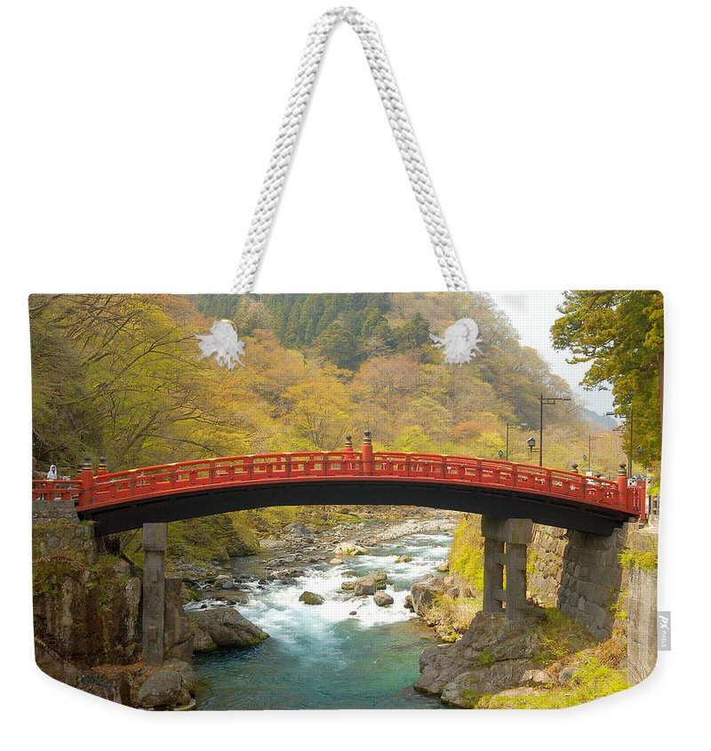 Japan Weekender Tote Bag featuring the photograph Japanese Bridge by Sebastian Musial