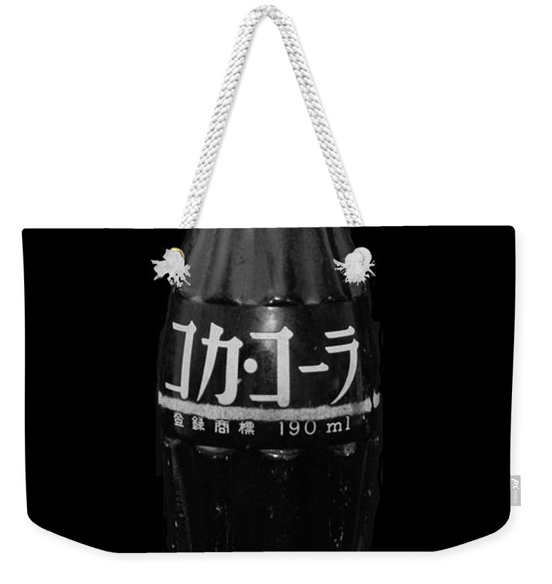 Black And White Weekender Tote Bag featuring the photograph Japanese Coca Cola by Rob Hans