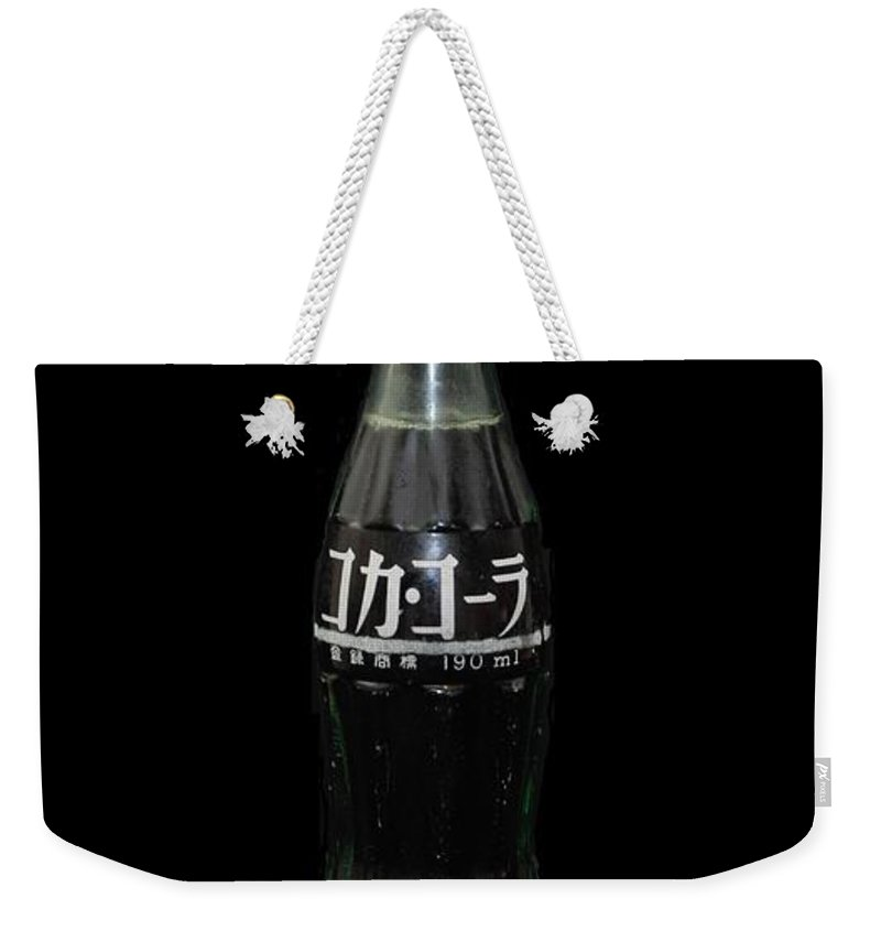 White Weekender Tote Bag featuring the photograph Japanese Coke by Rob Hans