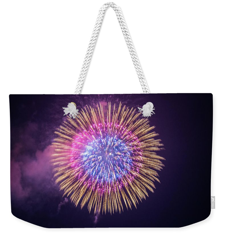 Japan; Nagoaka; Oceanview; Cruise; Ship; Ocean; Fireworks Weekender Tote Bag featuring the photograph Poppy Day by John Lillis