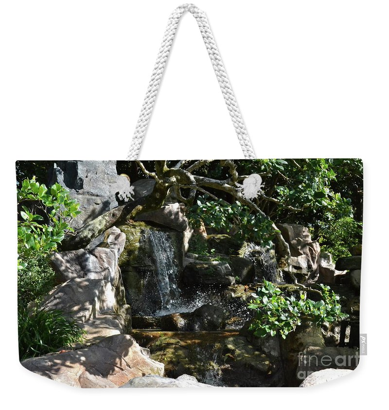 Garden Weekender Tote Bag featuring the photograph Japanese Garden And Koi Pond by Carol Bradley