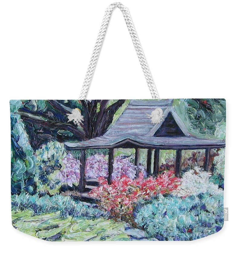 Garden Weekender Tote Bag featuring the painting Japanese Garden by Richard Nowak