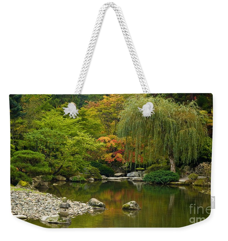Japanese Gardens Weekender Tote Bag featuring the photograph Japanese Gardens by Mike Reid