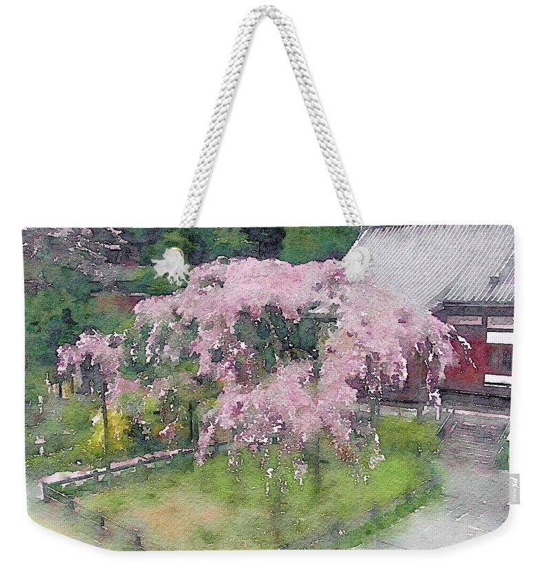 Japanese Weeping Cherry Tree Weekender Tote Bag For Sale By Susan