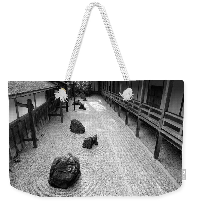 Japan Weekender Tote Bag featuring the photograph Japanese Zen Garden by Sebastian Musial
