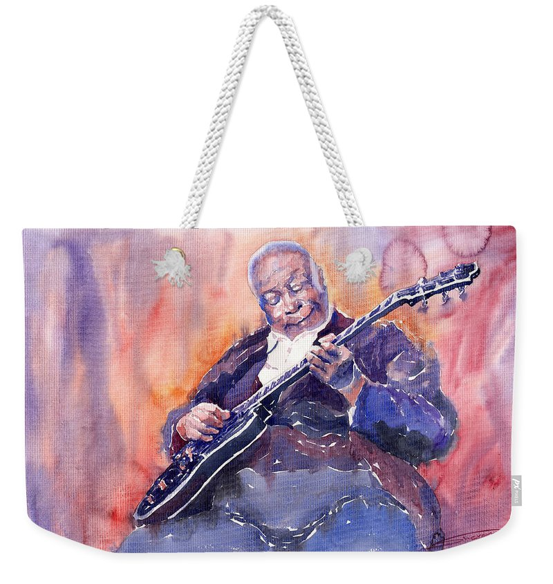 Jazz Weekender Tote Bag featuring the painting Jazz B.b. King 03 by Yuriy Shevchuk