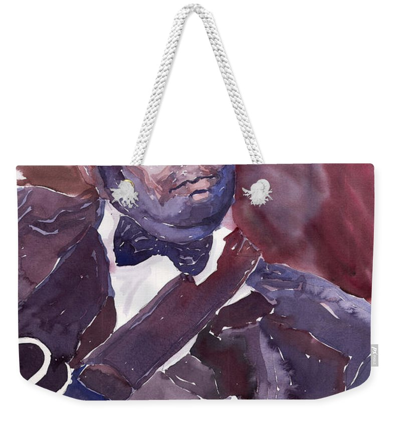 Jazz Bbking Guitarist Blues Portret Figurative Music Weekender Tote Bag featuring the painting Jazz B B King by Yuriy Shevchuk