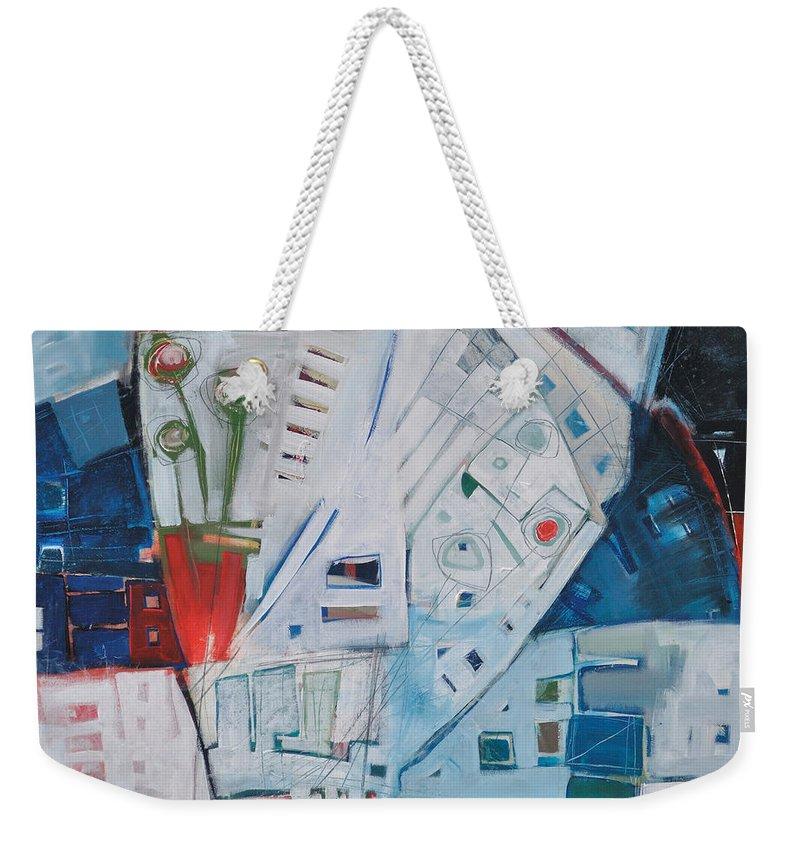 Jazz Weekender Tote Bag featuring the painting Jazz In Bloom by Tim Nyberg