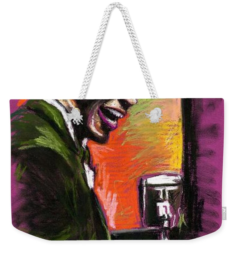 Weekender Tote Bag featuring the painting Jazz. Ray Charles.2. by Yuriy Shevchuk