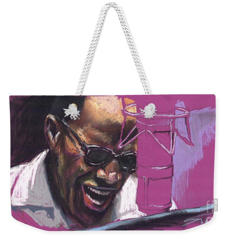 Jazz Weekender Tote Bag featuring the painting Jazz Ray by Yuriy Shevchuk