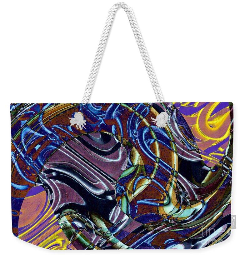 Jazz Weekender Tote Bag featuring the digital art Jazz by Ron Bissett