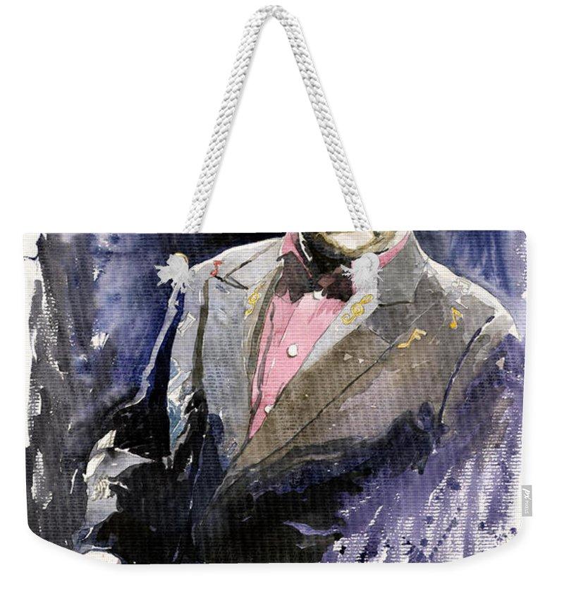 Watercolour Weekender Tote Bag featuring the painting Jazz Sir Elton John by Yuriy Shevchuk
