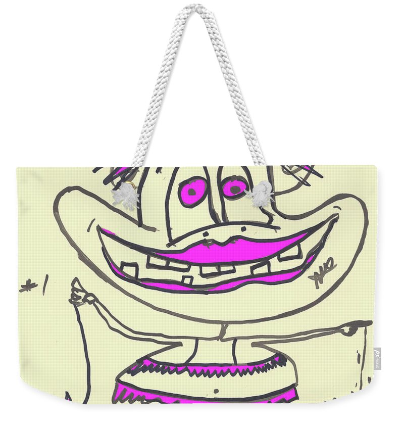 Funny Weekender Tote Bag featuring the digital art Jealous by Mitchell Watrous