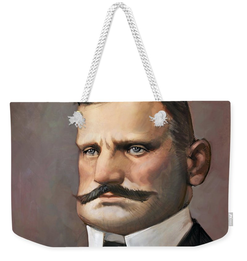 Music Weekender Tote Bag featuring the digital art Jean Sibelius by Adam Ford