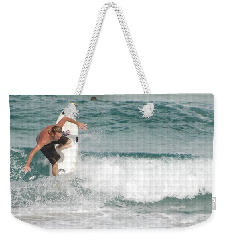 Ocean Weekender Tote Bag featuring the photograph Jeff Spicolli by Rob Hans