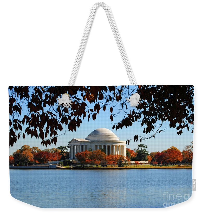 President Weekender Tote Bag featuring the photograph Jefferson In Splendor by Jost Houk