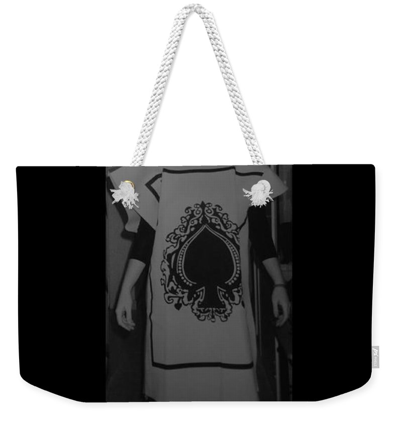 Ace Of Spades Weekender Tote Bag featuring the photograph Jen Of Spades by Rob Hans