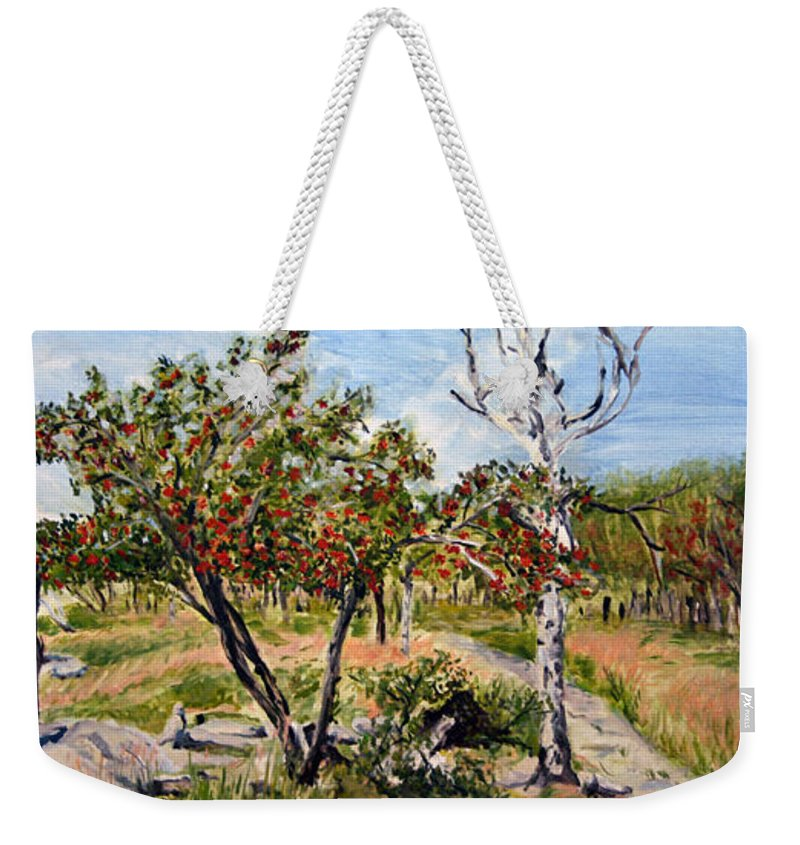 Landscape Weekender Tote Bag featuring the painting Jerabiny by Pablo de Choros