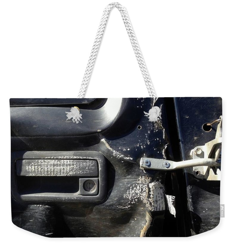 Jerry Rigged Weekender Tote Bag featuring the photograph Jerry-rigged by Marlene Burns