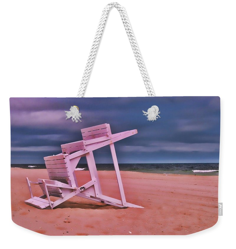 Island Beach State Park Weekender Tote Bag featuring the photograph Jersey Shore 2 by Allen Beatty
