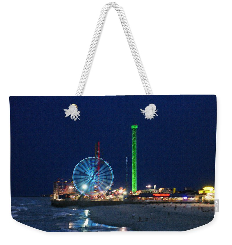 Landscape Weekender Tote Bag featuring the digital art Jersey Shore by Steve Karol