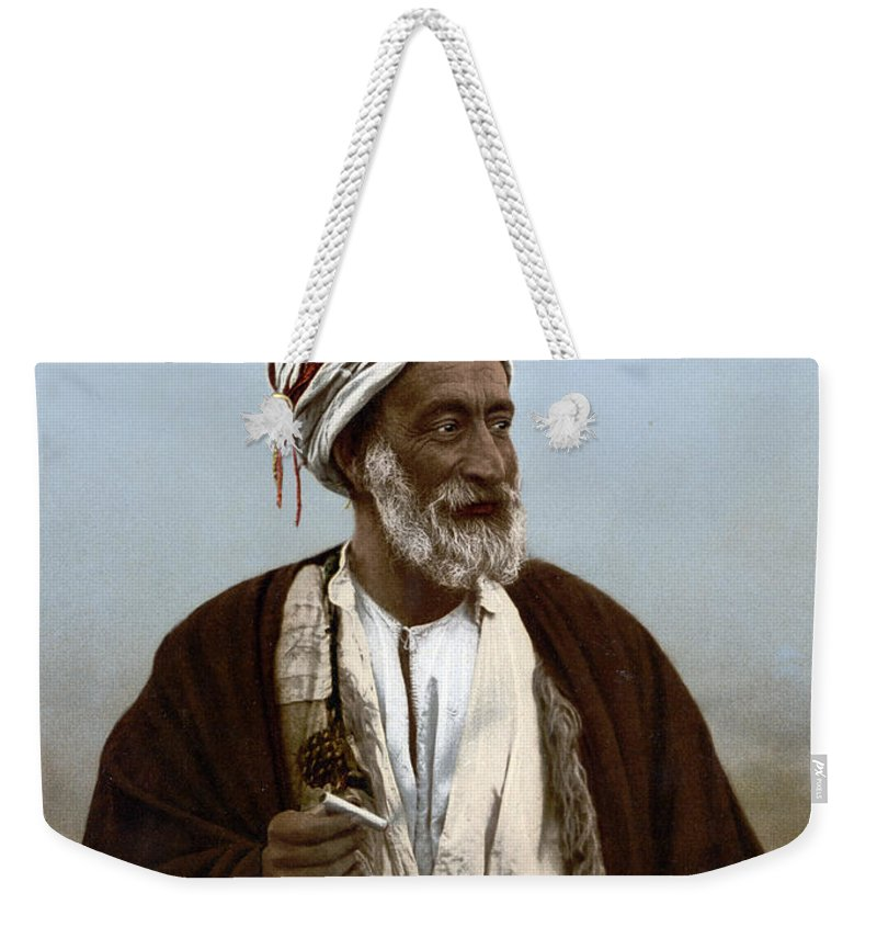Photograph Weekender Tote Bag featuring the photograph Jerusalem - Sheik Of Palestinian Village by Munir Alawi