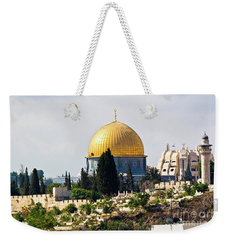 Israel Weekender Tote Bag featuring the photograph Jerusalem Dome Of The Rock by Ohad Shahar
