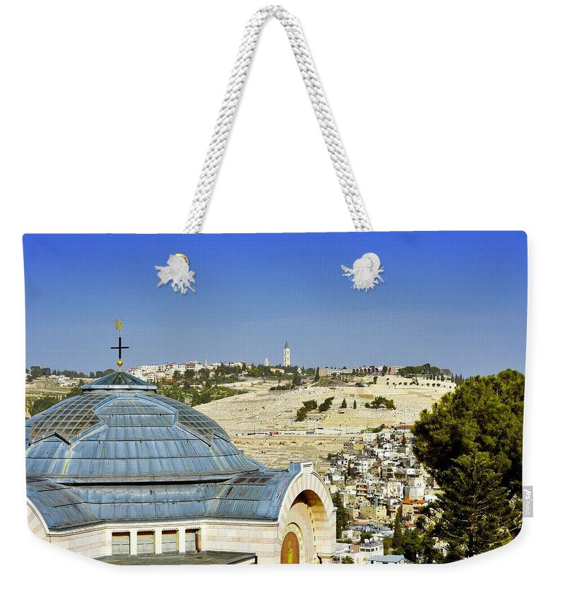 Jerusalem Weekender Tote Bag featuring the photograph Jerusalem View by Barbara Stellwagen