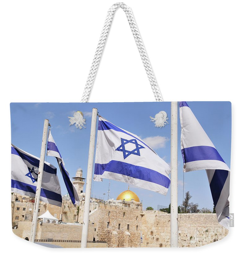 Jerusalem Weekender Tote Bag featuring the photograph Jerusalem Wailing Wall by Ohad Shahar