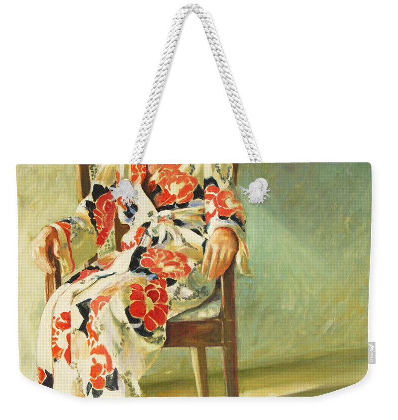 Girl Weekender Tote Bag featuring the painting Jess by Rick Nederlof