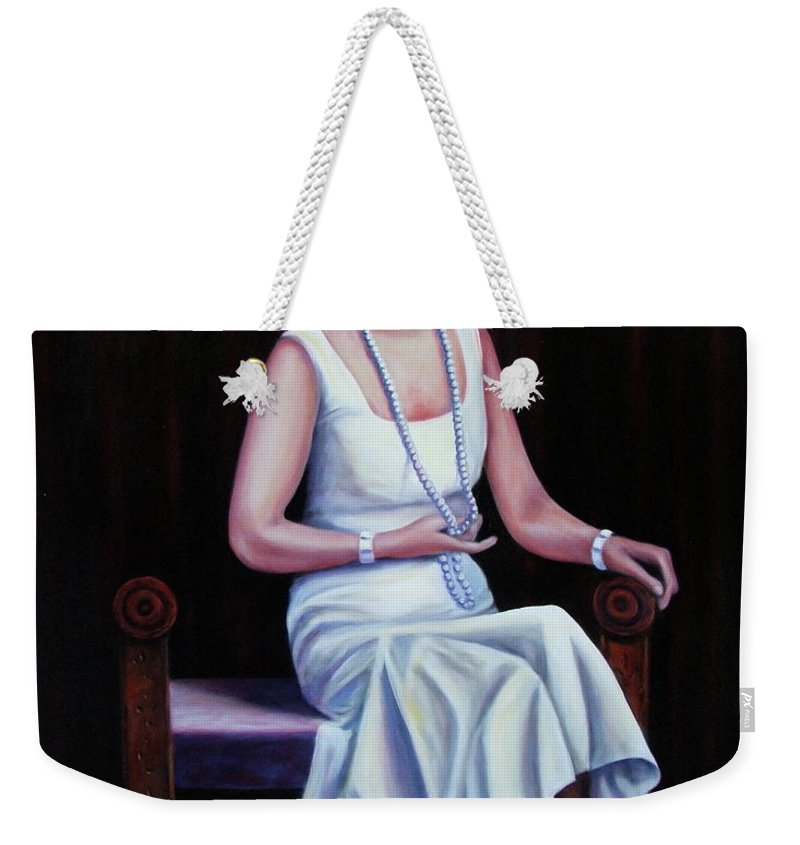 Portrait Weekender Tote Bag featuring the painting Jessie Mckay Lane by Shannon Grissom