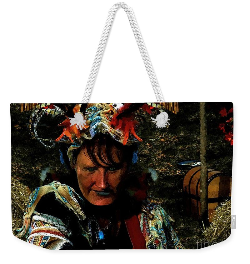 Jester Weekender Tote Bag featuring the painting Jester Somnolent by RC DeWinter
