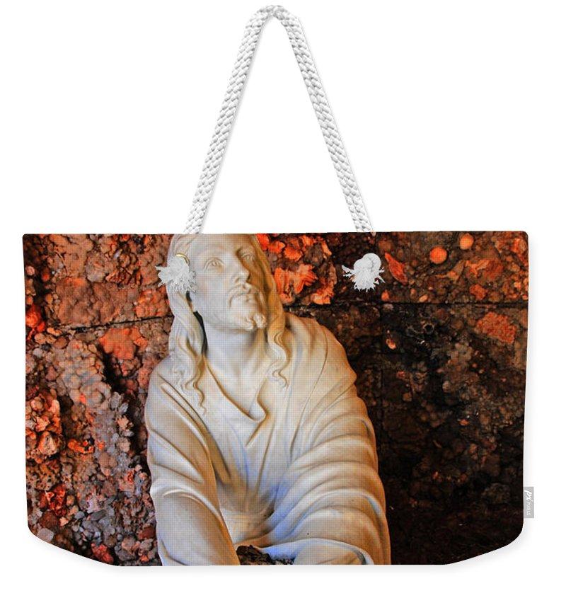 Jesus Christ Weekender Tote Bag featuring the photograph Jesus Christ by Susanne Van Hulst