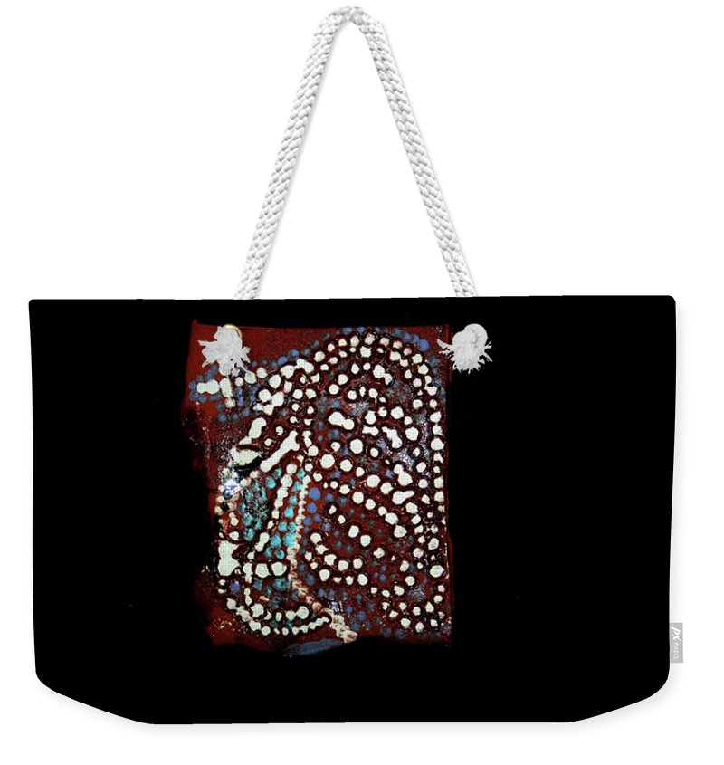 Godly Weekender Tote Bag featuring the ceramic art Jesus Gethsemane by Gloria Ssali