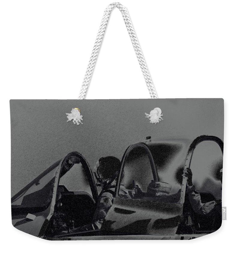 Military Weekender Tote Bag featuring the photograph Jet Pilots by Karol Livote