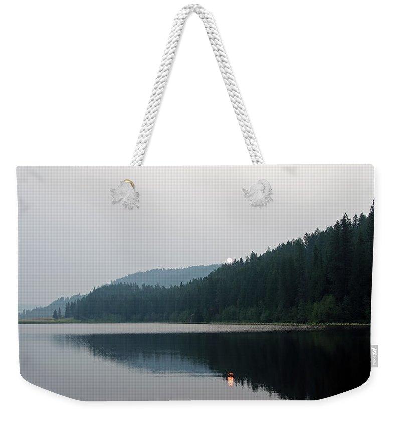 Lake Weekender Tote Bag featuring the photograph Jewel Lake Morning by Debra Baldwin