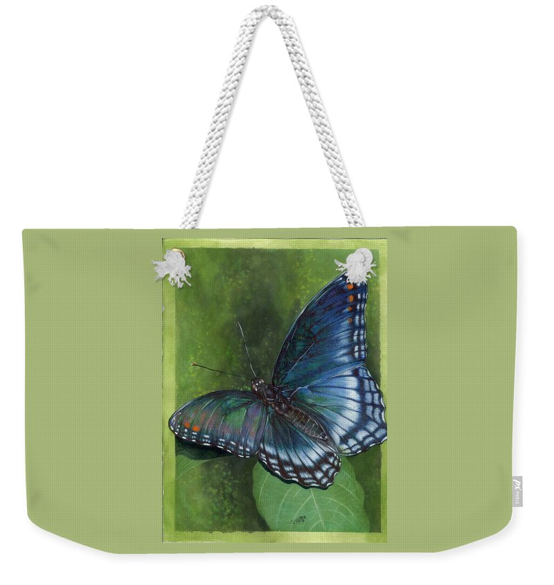 Insects Weekender Tote Bag featuring the mixed media Jewel Tones by Barbara Keith