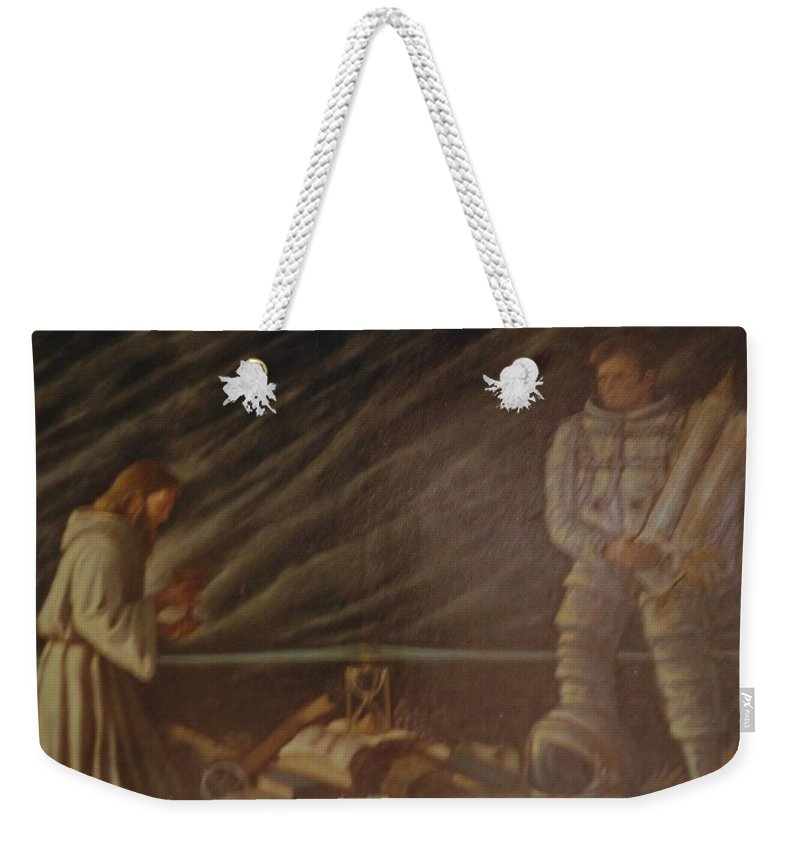 Jesus Weekender Tote Bag featuring the photograph Jews In Space by Rob Hans