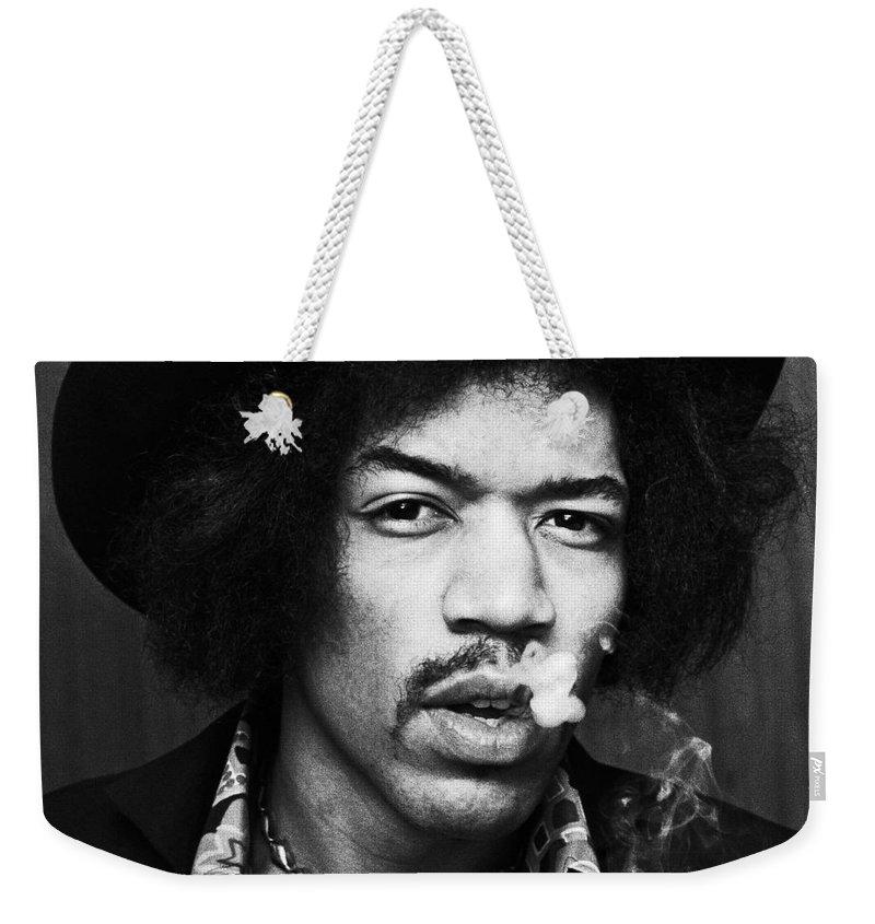 Jimi Hendrix Weekender Tote Bags
