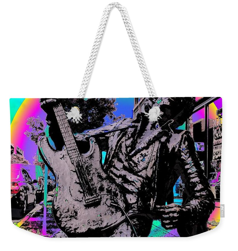 Seattle Weekender Tote Bag featuring the photograph Jimi Hendrix by Tim Allen