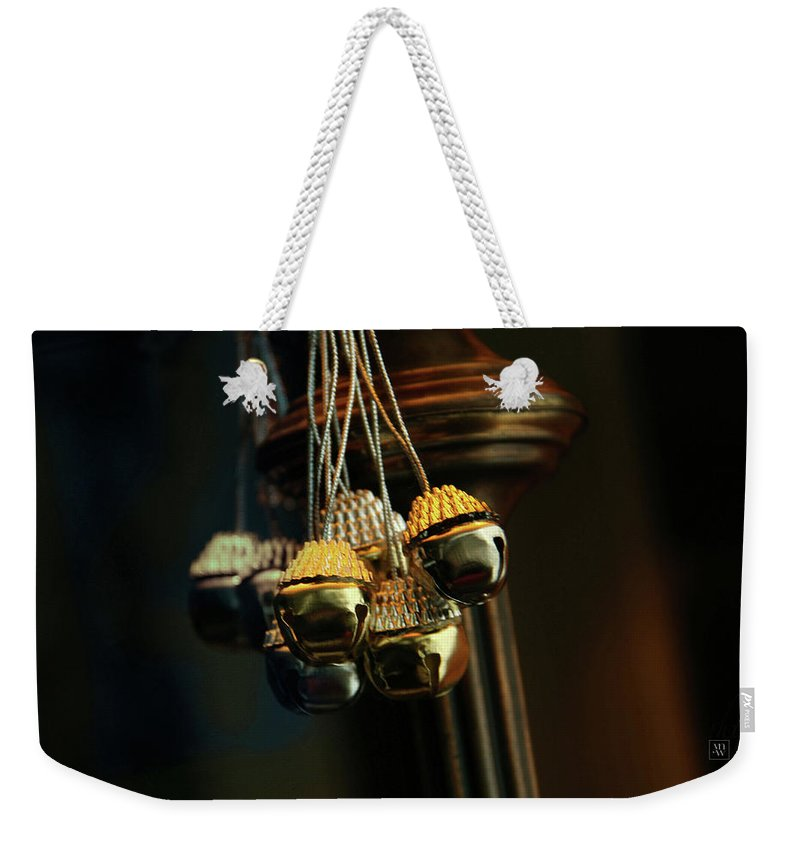 Jingle Bells Weekender Tote Bag featuring the photograph Jingle Bells by Yvonne Wright