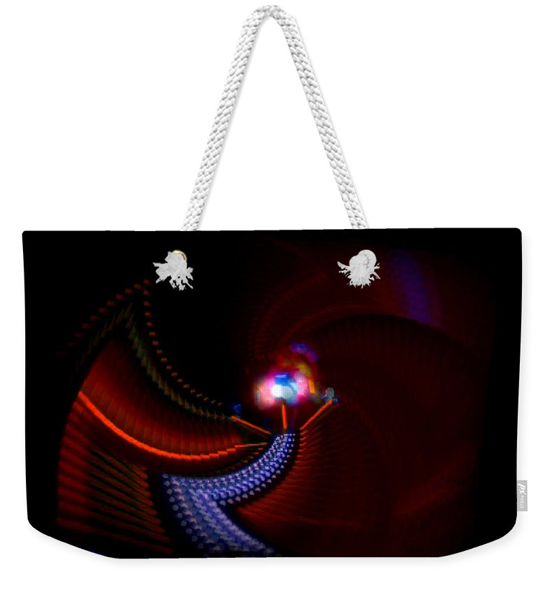 Chaos Weekender Tote Bag featuring the painting Jive Dude by Charles Stuart